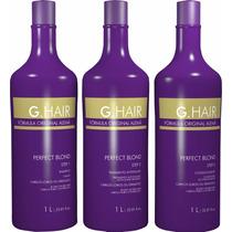 G Hair Perfect Blond Escova Progressiva Kit (3 X 1 Litro)