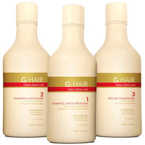 Inoar G Hair Escova Alemã Progressiva ( 3 X 250 Ml)