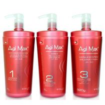 Agimax Kit Escova Progressiva Inteligente 3 Passos 1 Litro