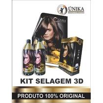 Kit Selagem 3d Unika Beauty Profissional 1500ml