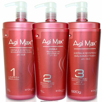 Kit Escova Progressiva Agi Max Red Kera-x 1000ml + Brinde