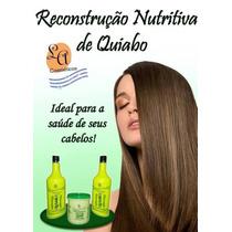 Kit De Cauterização E Reconstrução Capilar Quiabo