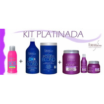 Kit Forever Liss Botox+ Shampoo+mascara+sos+power Blond