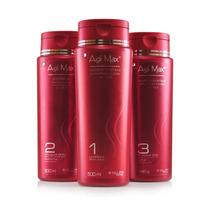 Agi Max Red Kit Escova Inteligente Kera-x 3x500ml