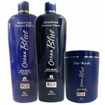 1ka Kit Ocean Blue - Progressiva Sem Formol (3 Produtos)