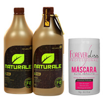 Escova Progressiva Naturale 1000ml + Masc. Foreverliss 1kg