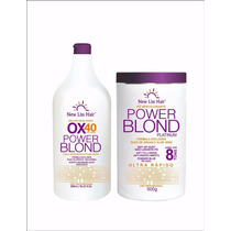 Pó Descolorante 500g + Ox New Liss Hair Power Blond 40 Vol