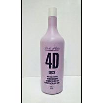 Escova Progressiva 4d Gloss Dolce Hair Liso Perfeito Brilho
