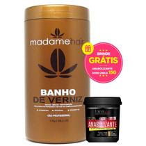 Madame Hair Banho Verniz Reduçao Volume Brilho 1kg + Brinde