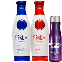 Portier Fine Escova Semi Definitiva + Intensy Colors 500ml