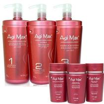 Kit Agi Max Red Kera-x 1000ml +kit Manutenção Agi Max+brinde