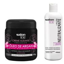 Kit Alisante Salon Line Argan Forte 500g + Neutralizante
