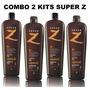2 Kits Escova Progressiva Super Z | Plástica Dos Fios | Vip