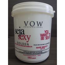 Botox Vow Seja Sexy Golden 1kg Máscara Redutora De Volume