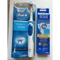 Escova Elétrica Recarregável Oral B + 4 Refis Extra