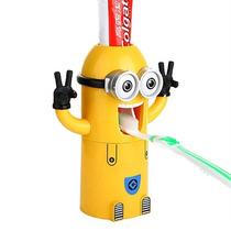 Dispenser Pasta Dente Automático Minions - Pronta Entrega