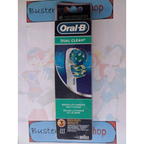Refil Escova Dente Eletrica Oral B Braun 2 Cabeca Dual 3 Und