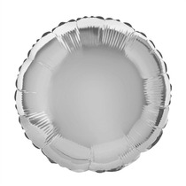Balão Redondo Prata 45cm Kit C/ 10 Unidades - Vazios