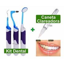 Kit Dentário Com Led + Caneta Clareadora De Dentes - M Shop