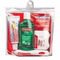 Kit Viagem Colgate - Escova, Creme Dental, Enxaguante E Fio