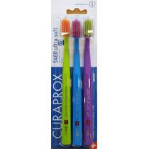 Kit Com 3 Escovas Dentais Curaprox 5460 Ultra Soft