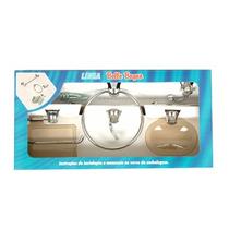 Kit Acessórios Bello Bagno Para Banheiro Fumê 5 Peças