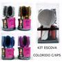 Kit Escova Cabelo C/suporte + 5 Peças 17 Cm