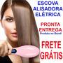 Escova Alisadora Elétrica Hair Straightener - Escova Mágica