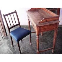 Escrivaninha Com Cadeira Antiguidade Mais De Cem Anos Idade