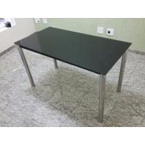 Mesas Dix Tokstok 110x60 C/ Tampo De Vidro (em Ótimo Estado)