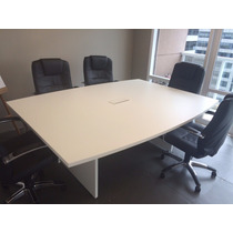 Mesa Reunião Branca Em Mdf Revestido Com Fórmica 2,15mx1,60