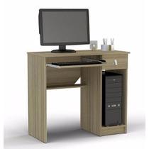 Escrivaninha Mesa De Computador Grajaú Castanho - Politorno