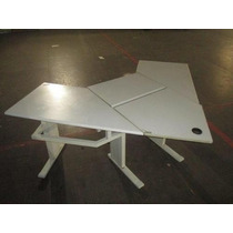 Escrivaninha Em Madeira Com Estrutura Em Ferro - Desmontável