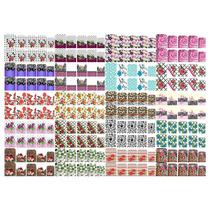 Kit 20 Cartelas Adesivos Peliculas De Gel Para Unha Cartelão