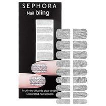 Adesivo P Unhas Sephora Nail Bling Prata 3d Silver Esmalte