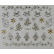 Adesivo De Unha 3d Natal - Pronta Entrega - N04