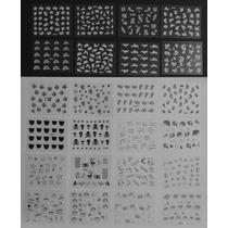 25 Cartelas Adesivos 3d Decoram 950 Unhas Ñ Repetem + Brinde