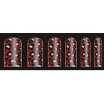 Adesivo Unha (ref:023) Pelicula Animal Print Vermelho Onça