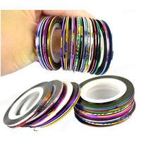 10 Rolos De Fitas Adesivas Metalizadas Decoradora De Unhas!
