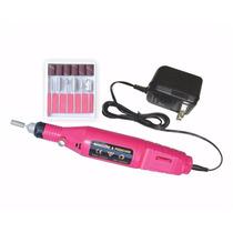 Motor Lixa Elétrica P/ Unhas Gel Acrigel Profissional Fonte