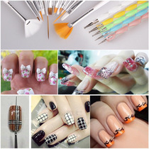 Kit Pincel Manicure Decoracao+boleador 20pcs.