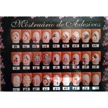 Adesivo De Unha Decorativo Flores - 10 Cartelas + Brinde