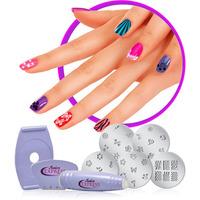 Kit Salon Decoraçao Unha Tatuagem Carimbo Manicure 5 Placas