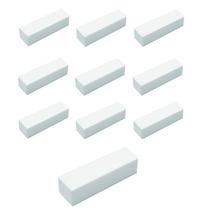 Kit C/ 10 Lixa Polidora Para Unhas Cubo Branca