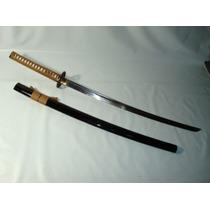 Espada Katana Samurai Com Mekugi E Bainha Grátis