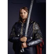 Espada Anduril Filme Aragorn 1,32 Metros+suporte De Parede