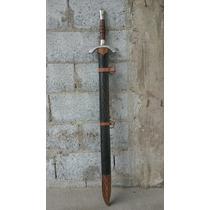 Espada Medieval Cem Por Cento Artesanal Com Corte E Bainha