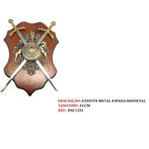 Brasaõ Decorativo Medieval Duas Espada C/suporte