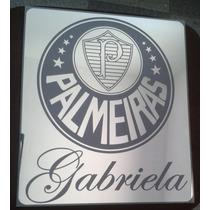 Quadro Decorativo Em Espelho Do Palmeiras Com Nome