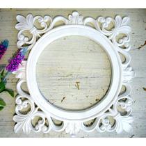 Espelho Ou Moldura Redonda Com Arabescos - Linda!